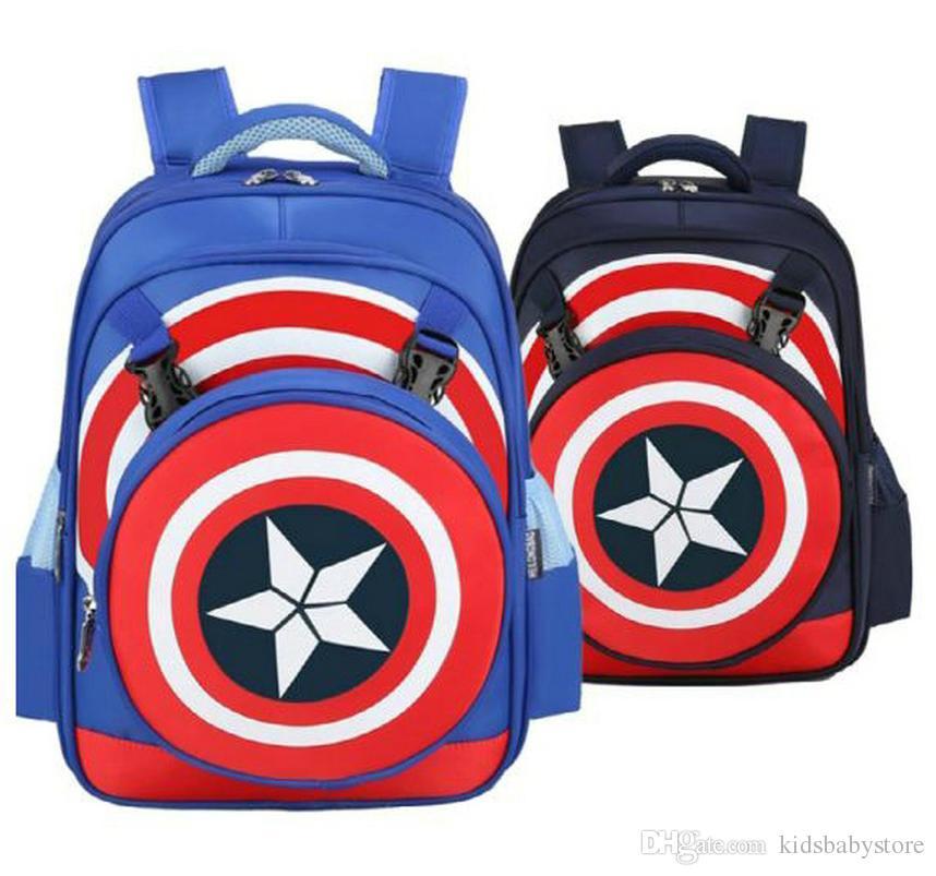 Cute New Design Captain America Children Schoolbag School Backpack