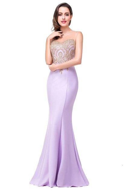 저렴한 이브닝 드레스 보석 슬리브 바닥 길이 라벤더 핑크 블랙 부르고뉴 댄스 파티 드레스 긴 댄스 파티 드레스 공식 파티 가운 CPS62
