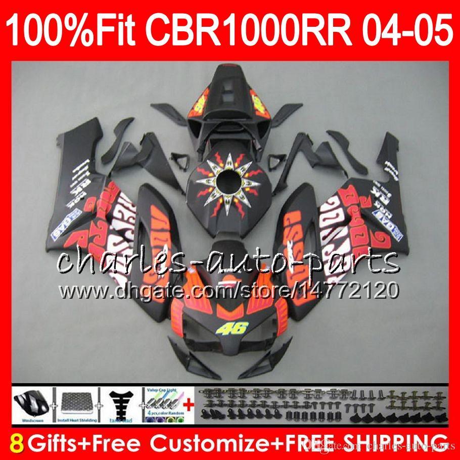 혼다 용 CBR 1000RR 04 05 차체 매트 렙솔 CBR 1000 RR 79HM4 CBR1000RR 04 05 CBR1000 RR 2004 2005 페어링 키트 100 % 적합