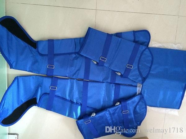 corpo do massager da pressão de ar que dá forma ao equipamento linfático da drenagem do terno da pressão