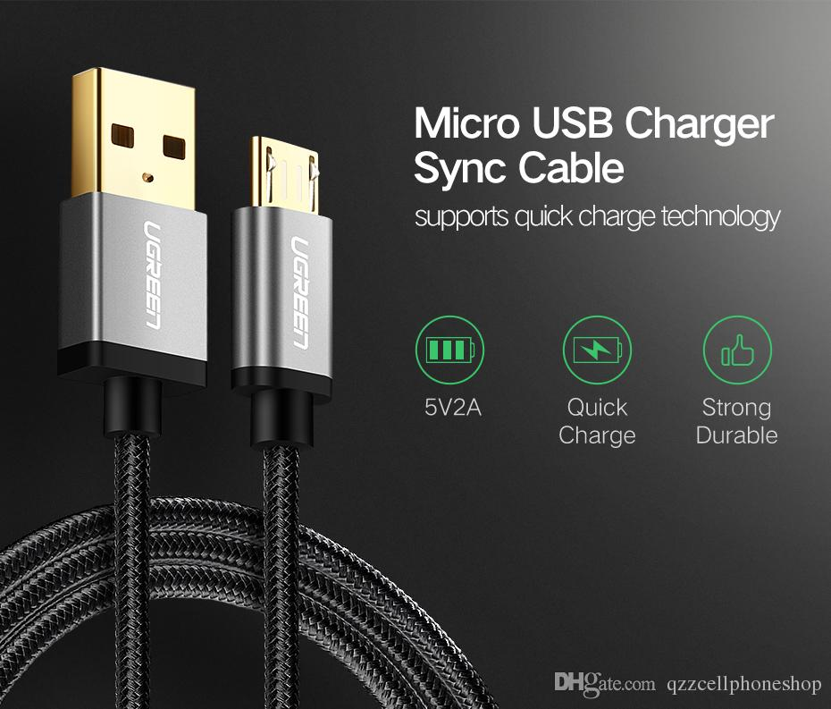 Ugreen Micro USB zu USB Kabel für Samsung HTC Huawei Schnell Ladegerät USB Datenkabel für Xiaomi Android Handy Kabel Microbus