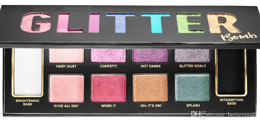 Nouveau maquillage de fard à paupières palette de fard à paupières bombe à paillettes 10 couleurs DHL gratuit cosmétiques