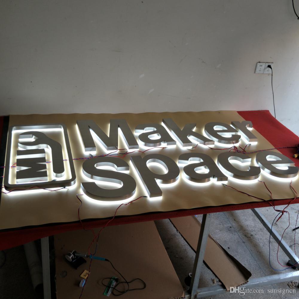 wholesale coffee store decorative 3d backlit letters sign