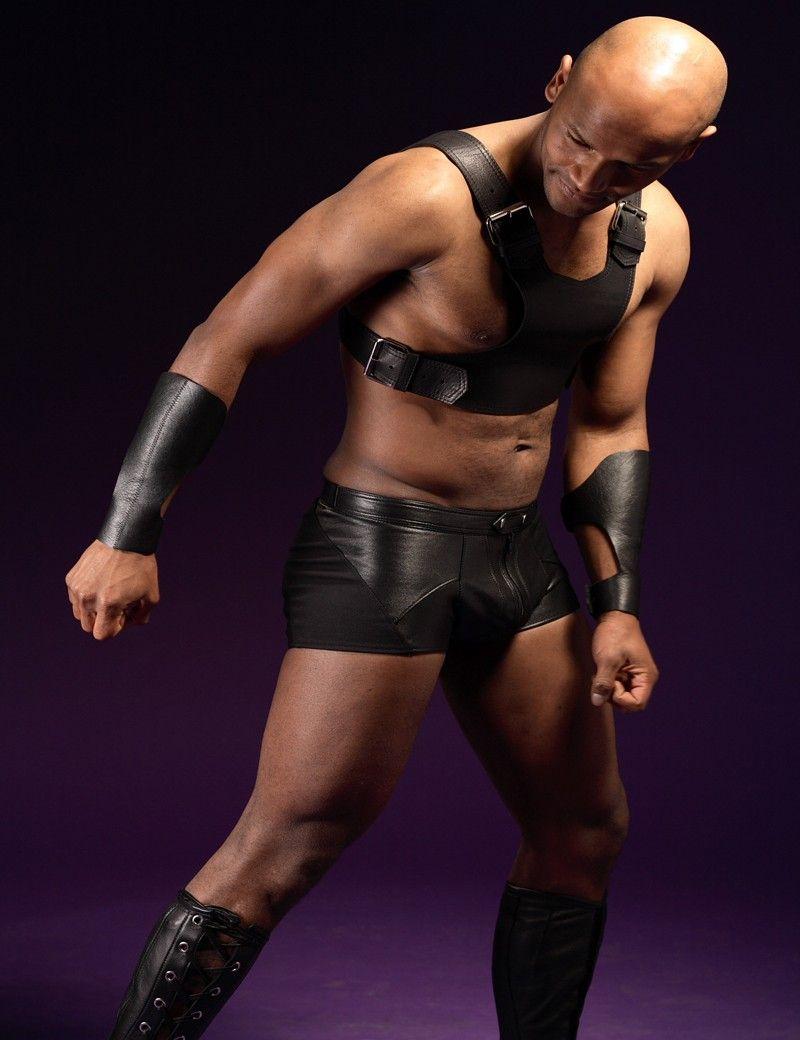 Uomini Ecopelle Body Belt Set Lingerie sexy del maschio adulto Buckle Up Top benda da notte costume Nightclub Outfit