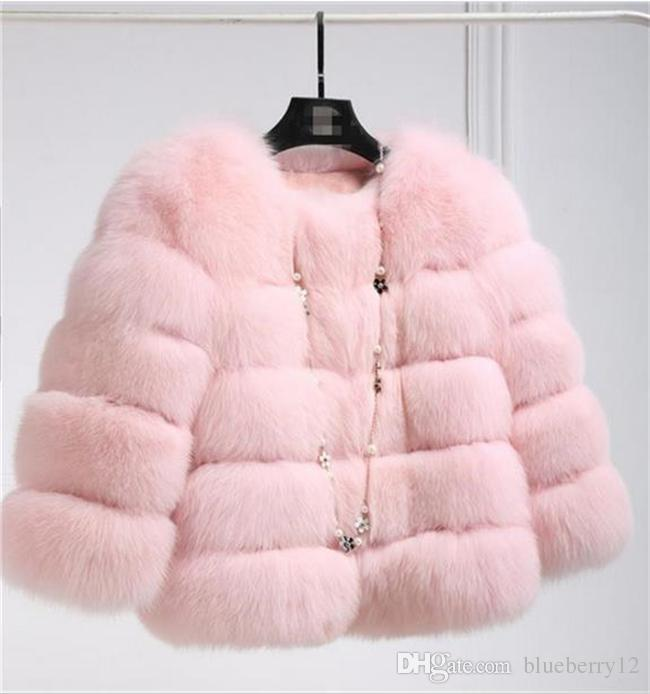 Good quality New Fashion Luxury Fox Fur Vest Women Short Winter Warm Jacket Coat Waistcoat Variety Color For Choice