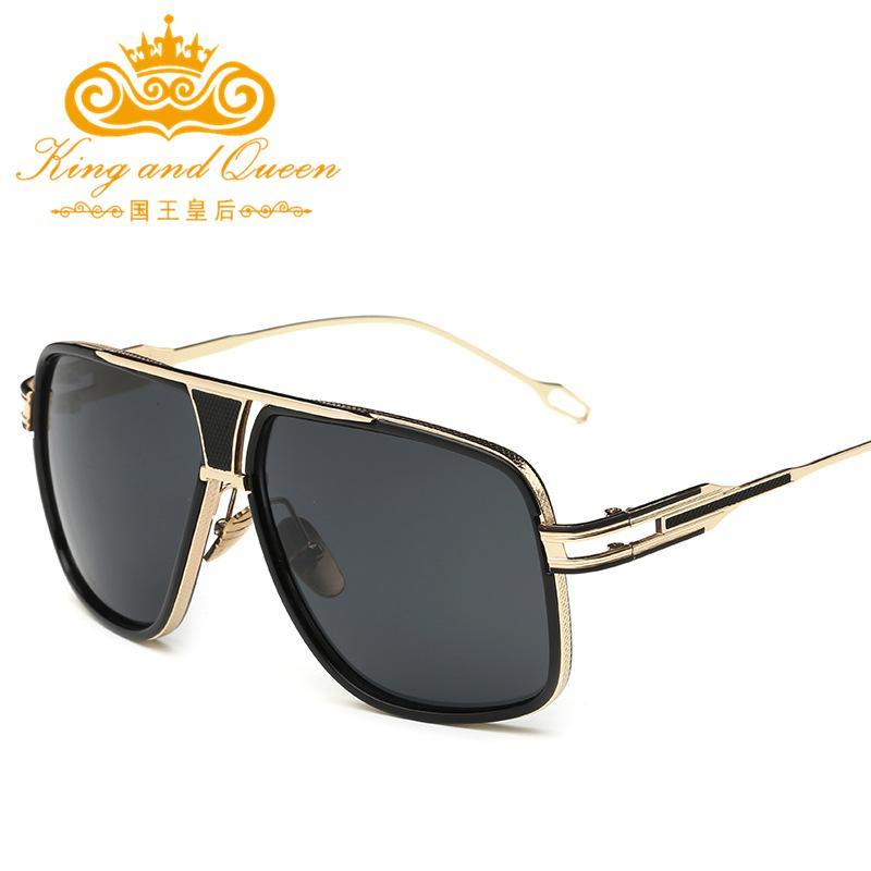 6486a980dbdfc Wholesale- Fashion Alloy Frame Mens Sunglasses for Men Brand ...