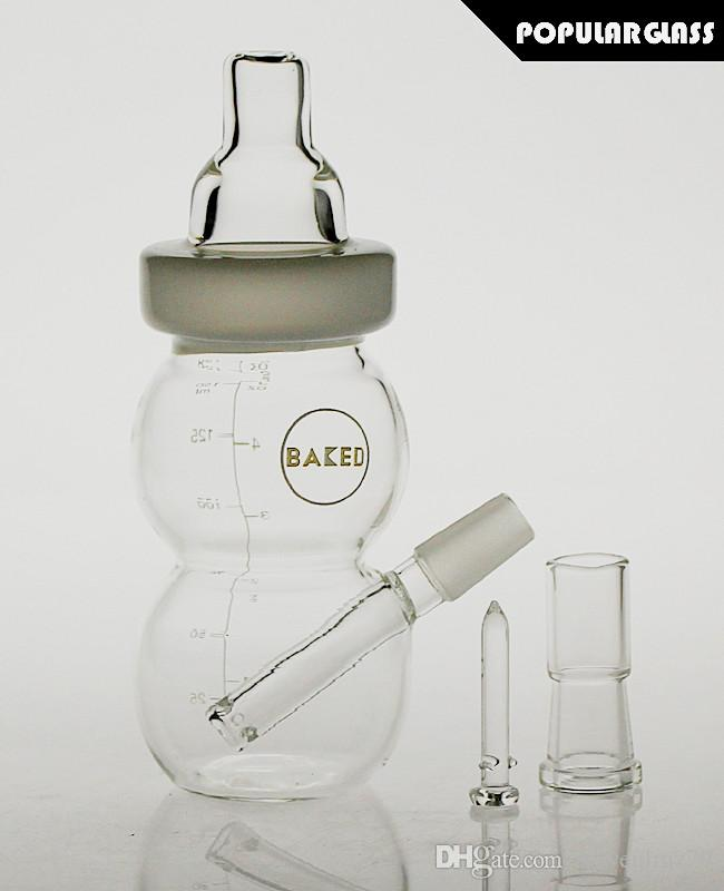 SAML 17cm Tall baby bottle glass oil rig glass Rig vapor glass smoking bubbler Bong Joint size 14mm PG5058