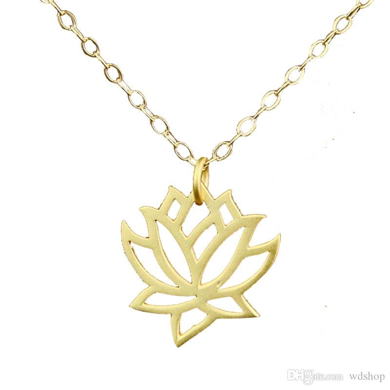Elegant hollow gold lotus pendant necklace fashion flower charm elegant hollow gold lotus pendant necklace fashion flower charm short clavicle chain necklaces for women valentines day present lotus flower pendant mozeypictures Image collections