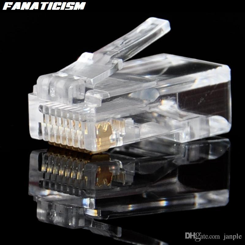 / Yüksek Kalite 8P8C RJ45 RJ45 CAT6 Cat6e Modüler Tak Ağ Bağlantısı Ethernet Lan Kabloları Modüler Bağlantı