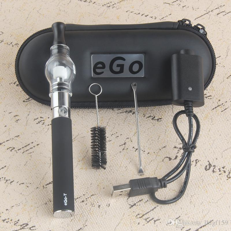 2017 Hot Sale dab pen kits Dry Herb Herbal Vaporizer glass globe wax pen EGO T 650mah 900mah 1100mah e cigarettes starters kit