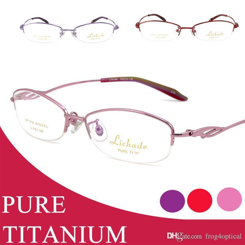 Compre Anteojos Gafas Graduadas Marcos Mujeres Gafas Titanio Puro ...