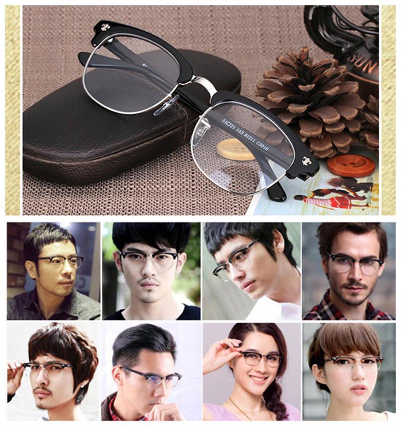 Hand-made star-supermen Retro-vintage Eye-brow glasses frame quality pure-plank unisex prescription glasses 81211wholesale