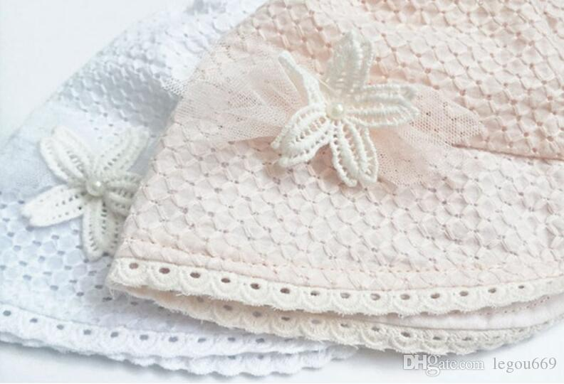 Sweet Lovely Cute Princess Children Kids Girls Baby Hat Beanie Pink New Lace Floral Caps SUY
