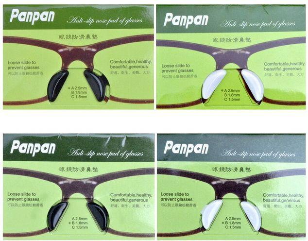 black and transparent Anti-Slip quality healthy Silicagel Nose Pads stick on the nose For plank Sunglasses Glasses Wholsale