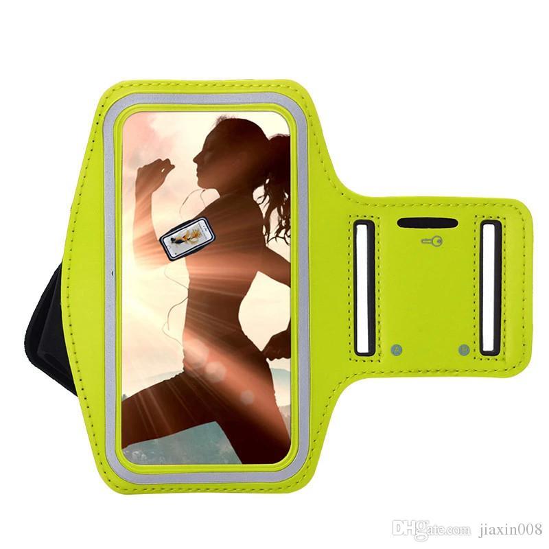 Teléfono móvil brazaletes gimnasio correr deporte brazo banda cubierta para iphone 4S 5S 5C 6 6 S 7 8 bolsas brazalete ajustable proteger caso