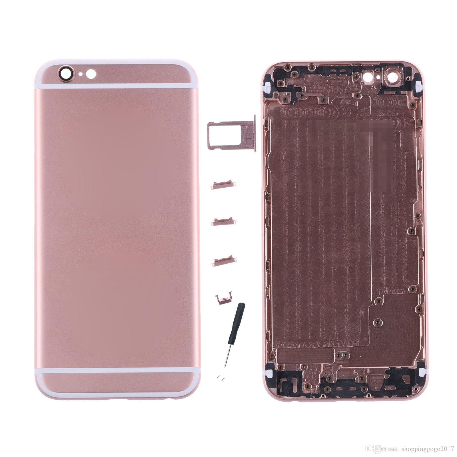 Replcement Cover for IPhone 6S Back Metal Housing for 6S Rear ...