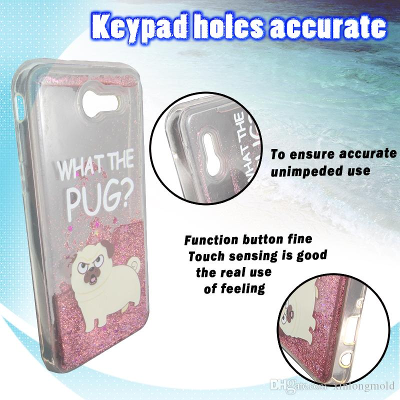 Water Glitter Case For Samsung S8 s8plus J5 2017 ZTE MAX XL N9560 Painting Quicksand Colorful Luxury Bling Transparent TPU