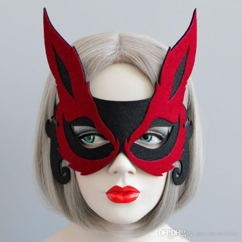 Woman Deer Mask New Lovely Eye Face Beuta Mask Masquerade Mysterious Girls  Party Cosplay Animal Mask Halloween