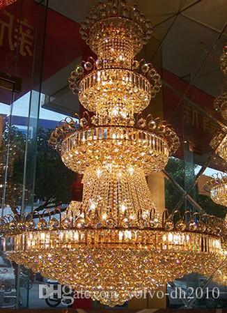 LLFA1506 Бесплатная доставка роскошная вилла гостиная люстра хрустальная люстра современный минималистский люстра свет длинная двойная лестница