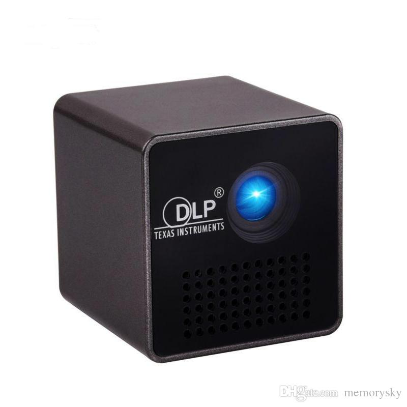 P1h hd mini portable projector led micro projector cinema for Portable video projector