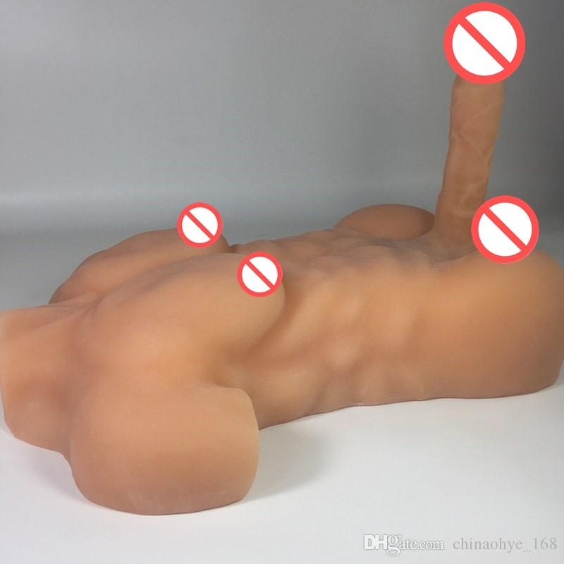 US silicone doll for sex robot dolls with huge dildos gay male sex doll for women adult dolls 7.9 inch rubber penis