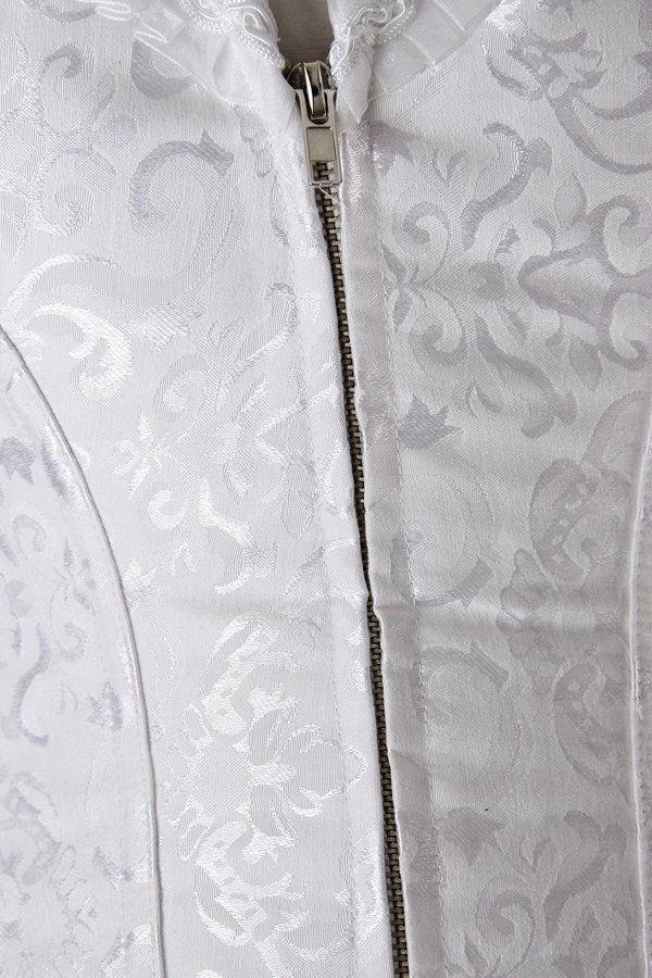 Women's Steel Boned White Overbust corset