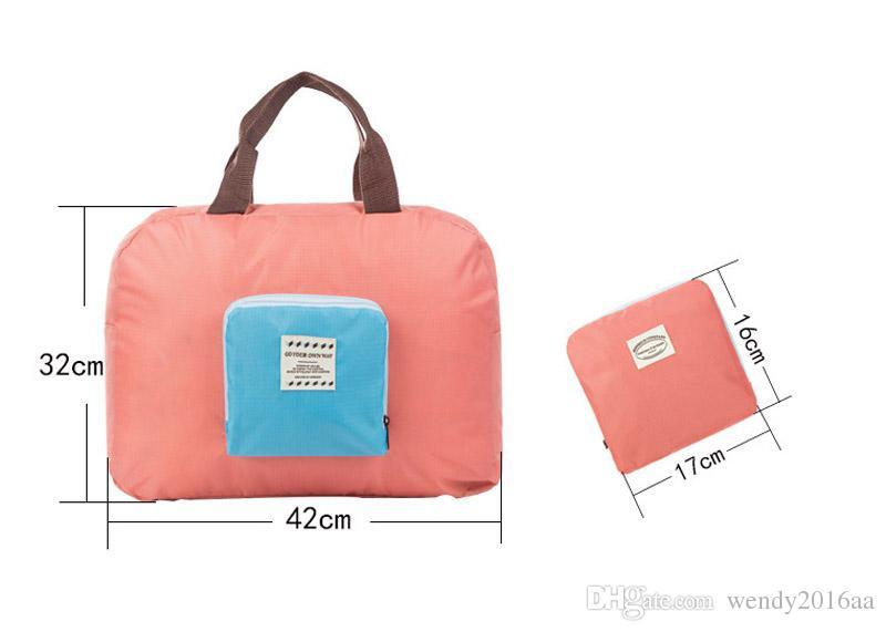 50 teile / los 4 farben Unisex Oxford Faltbare Wasserdichte Lagerung Eco Wiederverwendbare Einkaufstaschen Reise multifunktions Seesack im freien