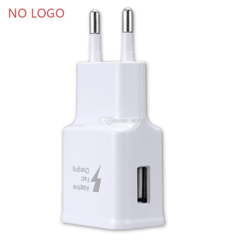 Para Samsung S7 Cargador de pared rápido Cargador de automóvil Para S6 Nota 5 Adaptador de viaje 1.5 M Kits de cable USB micro 5V 2A EE. UU. Versión de la UE Enchufe Sin logotipo Bolsa Opp