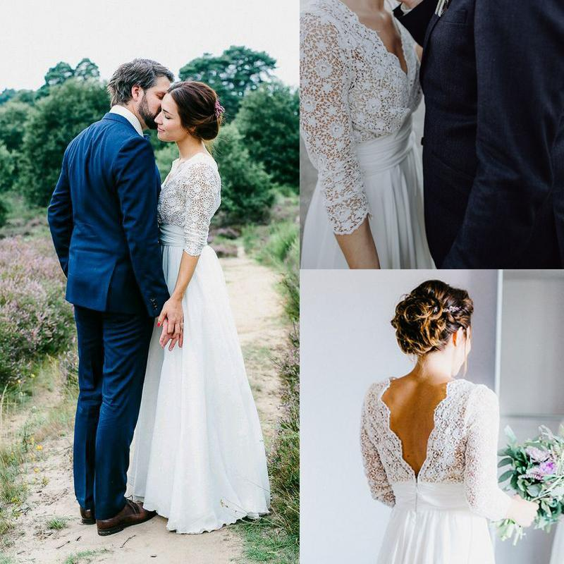 Suosikki 2017 High Low Short Front Long Back Beach Wedding: Discount Vintage Lace Wedding Dresses 2017 Cheap White