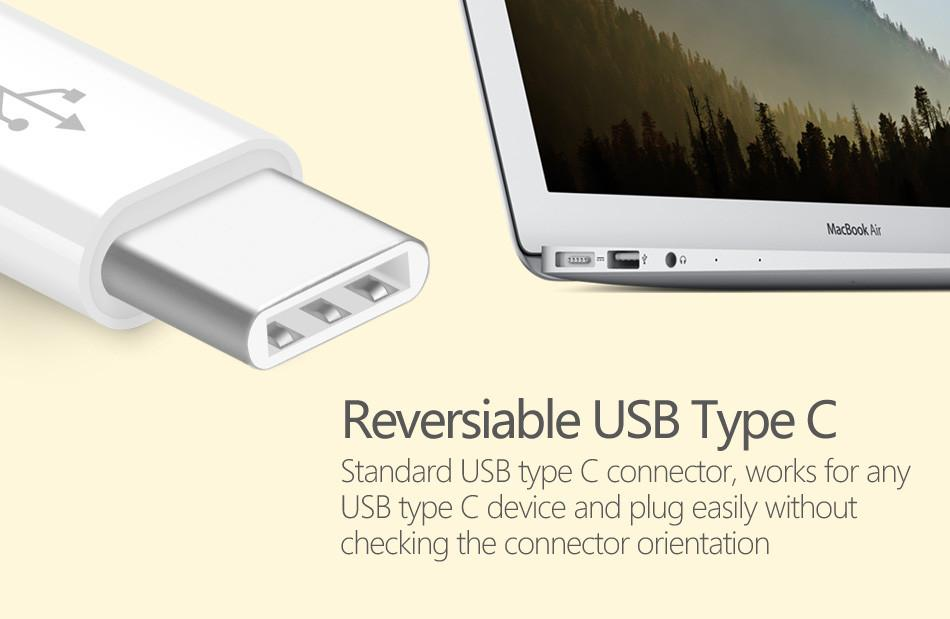 USB Type C adapter Micro USB, 3.1 cable Data Sync Charge Cable for Nokia Tablet for Macbook OnePlus 2 ZUK Z1 TPE