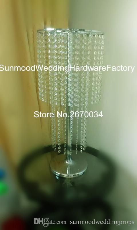 Grand poteau en acrylique pour mariage et support pour fleurs