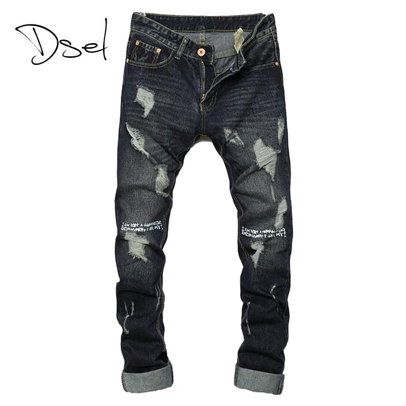 2019 Wholesale Ripped Jeans For Men Hot Sale Skinny Jeans Size 28 To 36  Slim Fit Mens Denim Trousers Brand Design Dark Color Casual Men Jeans From  Piterr, ... 22b04d02b7