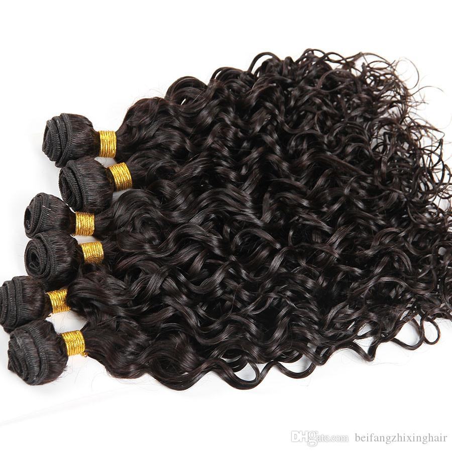 Grade 8A--Virgin Hair Brazilian Water Wave 50g bundles &6 Bundle one 100% Human Hair Weaves Wet and Wavy remy