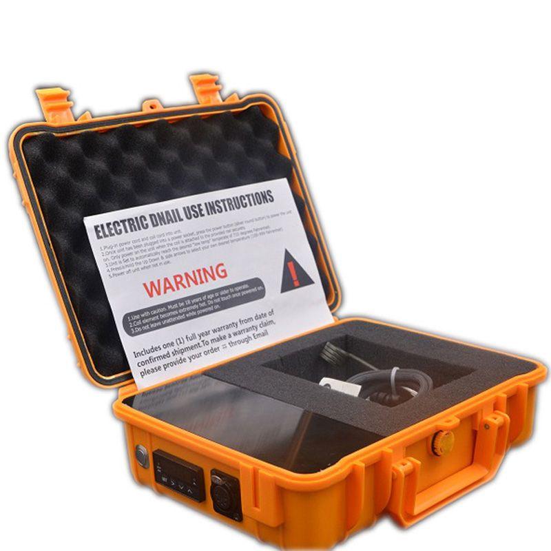 DHL libre Pelican Case D eléctrico Kit de uñas E Calentador digital de clavos Bobina Caja PID con plataforma de cobre tubería de agua plataformas petrolíferas
