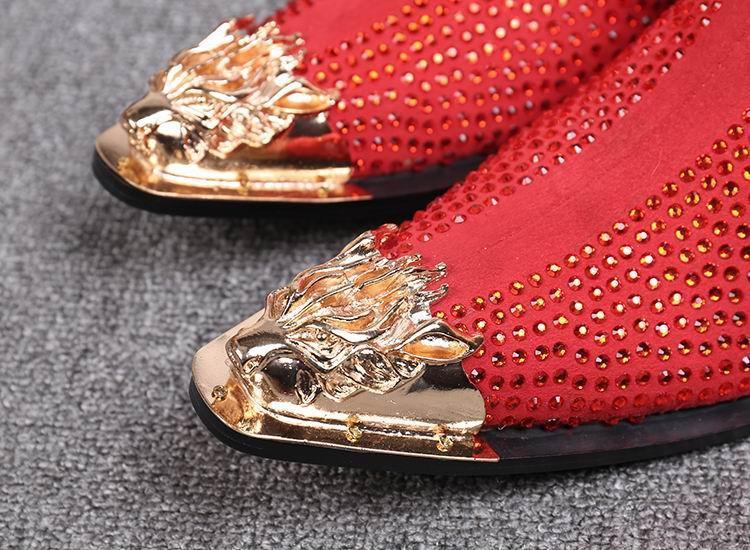 2018 Новый Zip Черный / Красный Boot Дизайнер Роскошные мужские Красные Ботильоны Мода Горный Хрусталь Металл Острым Носом Высокие Замшевые Туфли
