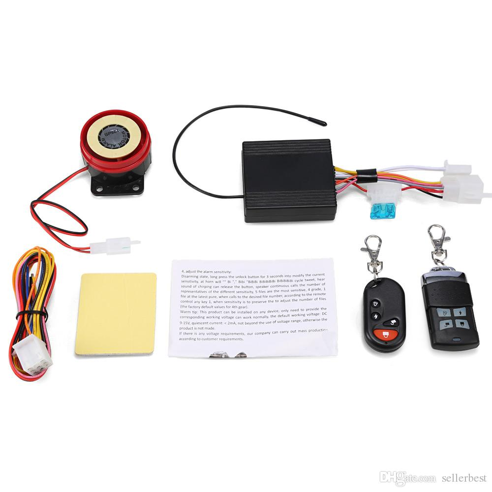 Two Way Motorcycle Alarm System Remote Control Engine Start