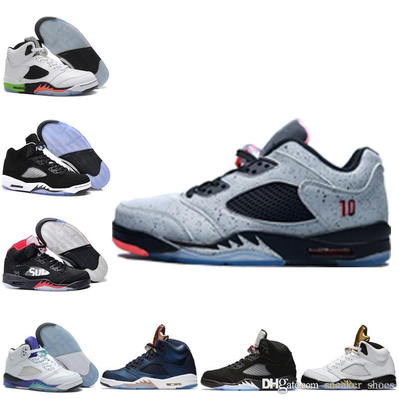 separation shoes 8b6b4 23a72 Wholesale Air Retro 5 Man Basketball Shoes Cheap High Quality Low Neymar OG  Black Metallic Bronze Men Sneaker Fire Red Oreo Sports Shoes 4e Basketball  Shoes ...