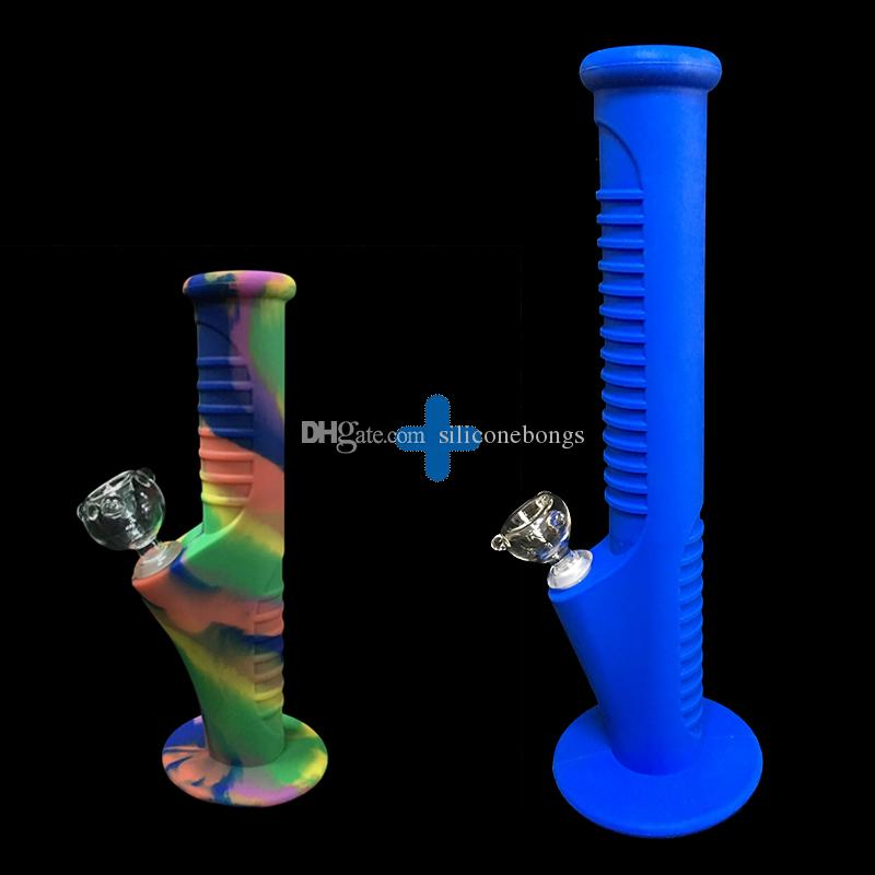 06Free shipping fuls new set Silicone Mini Water Pipes and Silicone Water Pipes glass bongs glass pipes water bongs