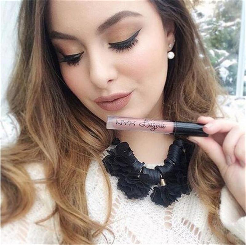 NYX lingerie liquid lipstick matte lip gloss nyx lingerie cosmetics makeup waterproof long lasting lipgloss Fashion Charm