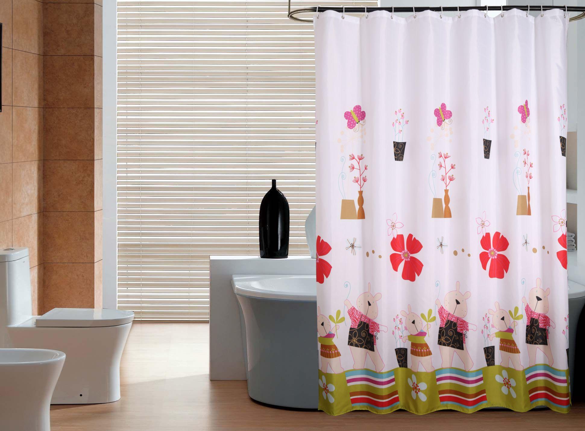 Großhandel Duschvorhang Schöne Bär Mädchen Badezimmer Schmücken ...