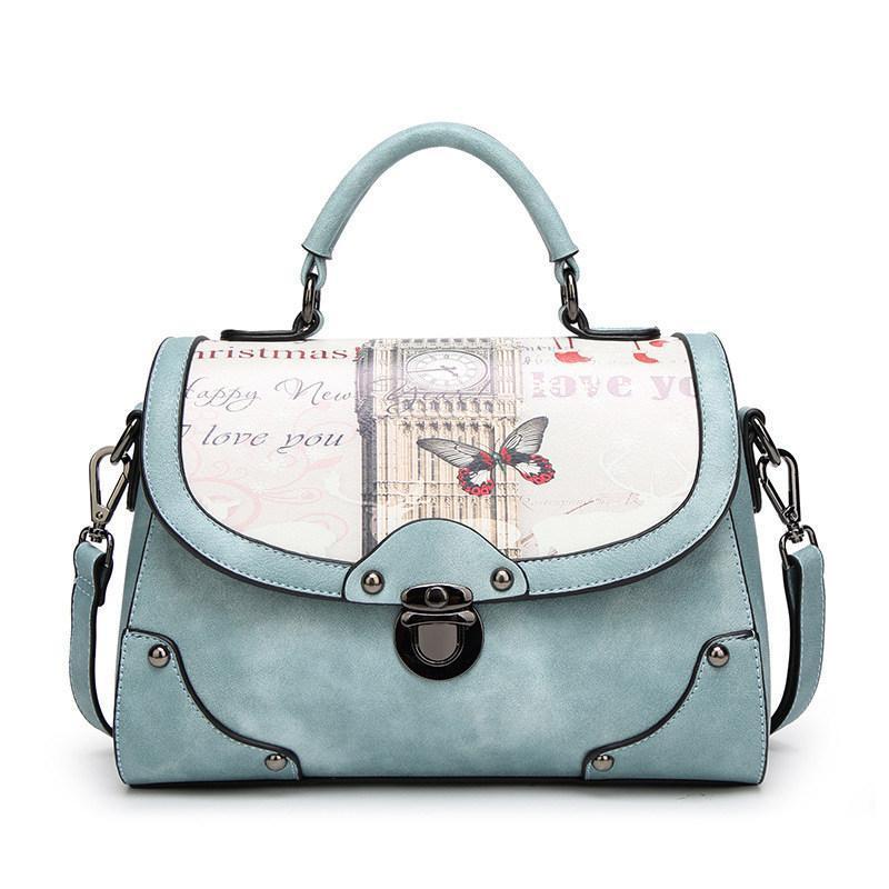 ef2b9fedd6 Designer Handbags Brand Women PU Leather Bag New Retro Blooming Handbag  Printing Bag Ladies Soft Messenger Bags Female Totes Bags Women PU Leather  Bag ...