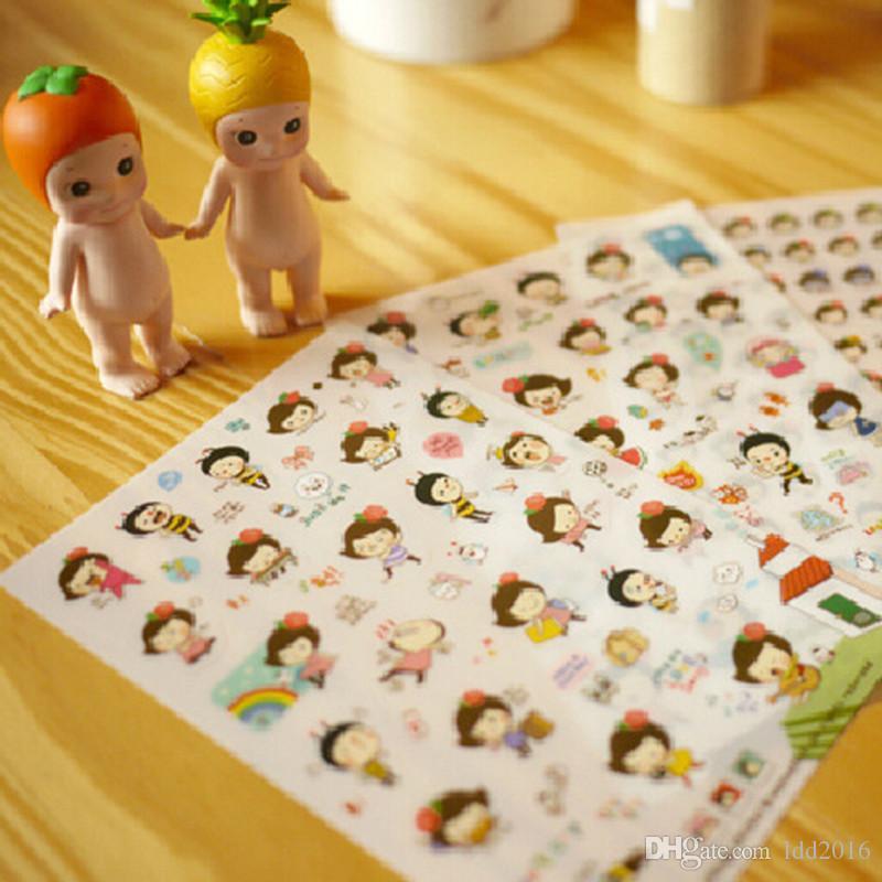 2018 6sheetsWholesale Cute Lovely Transparent Phone Calendar Book ...
