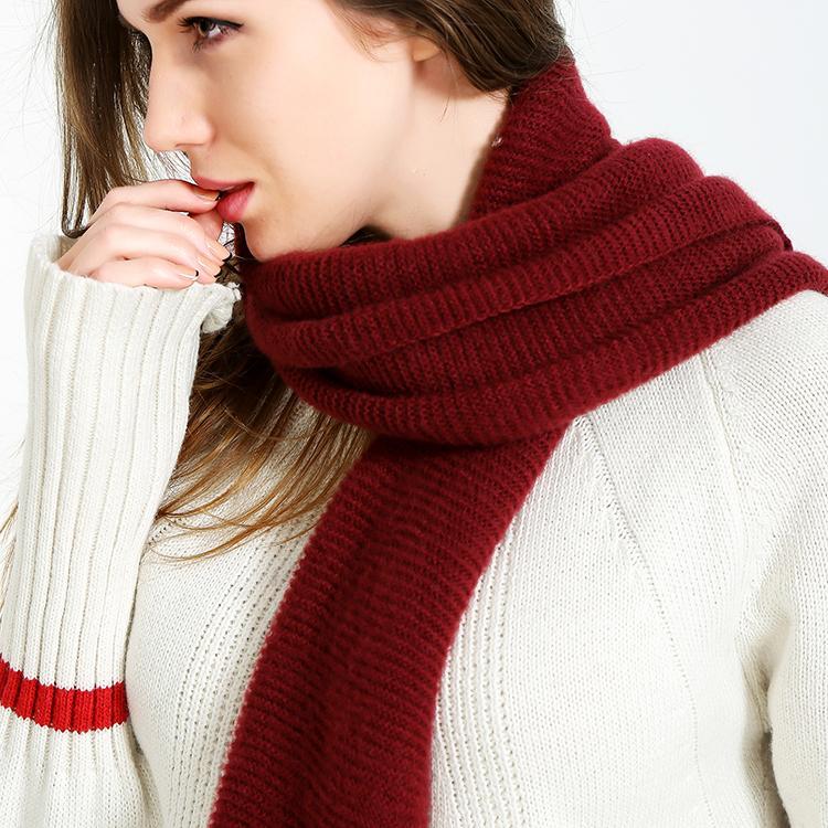Grosshandel Pobing Luxus Marke Winter Schal Frauen Kaschmir Solide