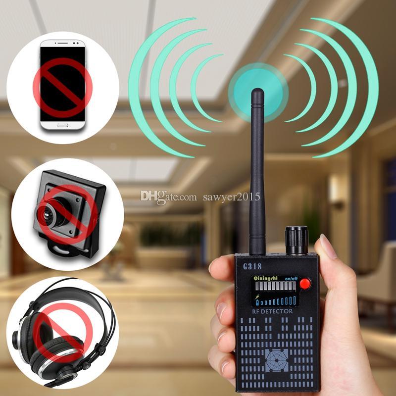 Rilevatore portatile G318 Rilevatore di segnale RF wireless Rilevatore di segnale CDMA Rilevatore ad alta sensibilità Obiettivo della fotocamera / localizzatore GPS Device Finder