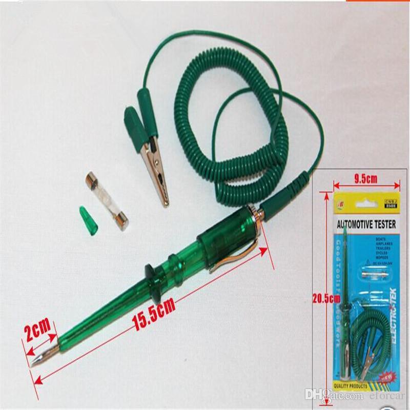 자동 트럭 전기 회로 전압 테스터 DC 6V 12V 24V 테스트 라이트 펜 도구