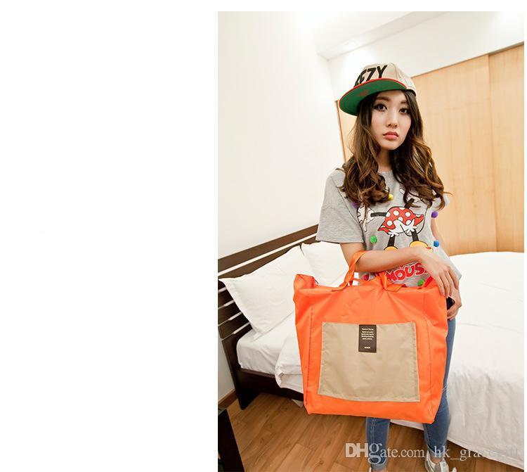 متعددة الوظائف حقيبة الكتف المحمولة فائقة ماء حقائب البنات كبيرة حقيبة الكتف قدرة كبيرة حقيبة تسوق قابلة للطي للماء