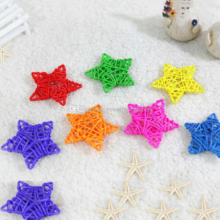 Rattan Star Christmas Wedding Party Home Decorations Kids Room Ornaments Star Rattan Ball Multi Colors New