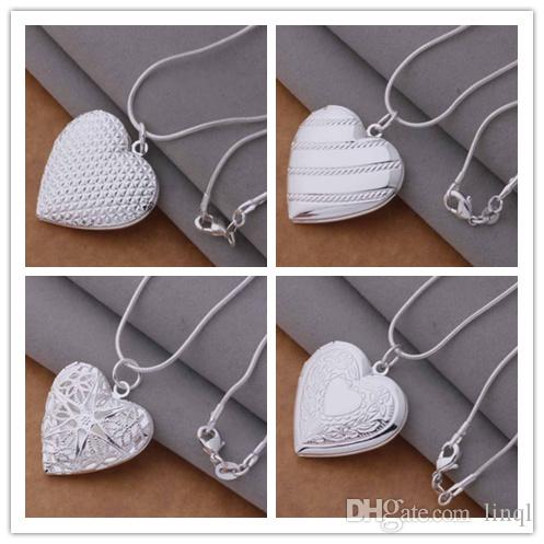 925 silver plated heart pendant necklace fashion jewelry Valentine's Day gift