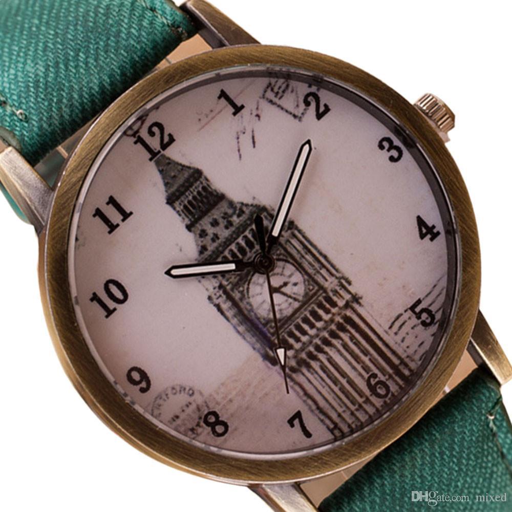 Новый Дизайн Биг Бен Часы Ретро Ковбой Кварцевые Наручные Часы Мода Sep7