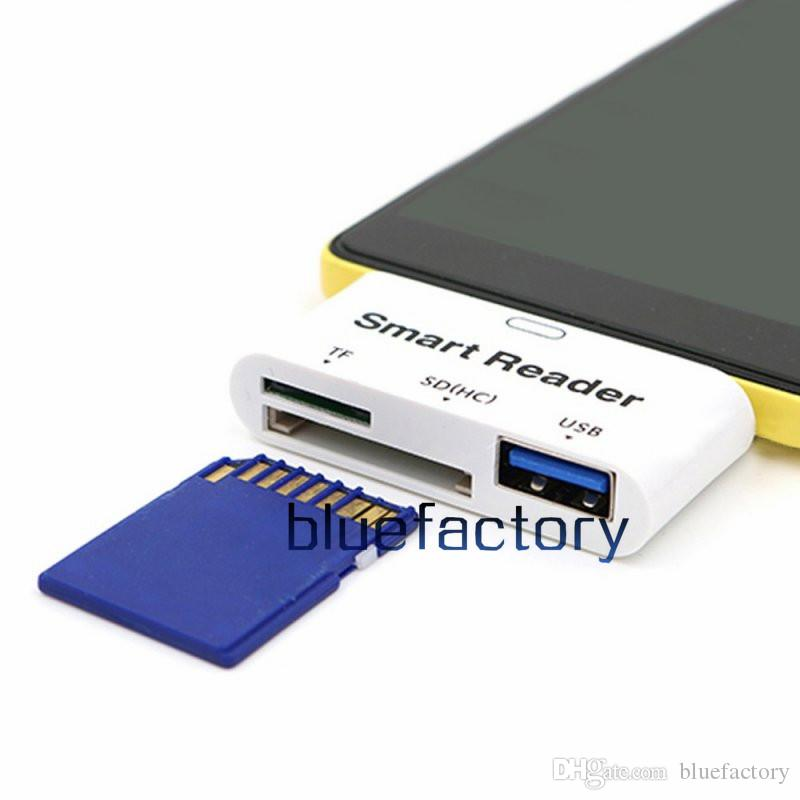 New Multifunction USB 3.1 Type C USB-C Card Reader USB SD TF Smart Card Adapter For PC Laptop Tablet Macbook Samsung